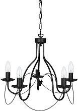Dundas 5-Light Candle Style Chandelier Fleur De