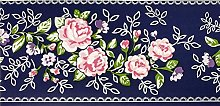 Dundee Deco MGAZBD2099 Peel and Stick Floral Pink,