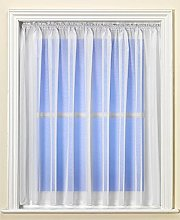 Dunelm Plain White Net Curtain with Lead Weighted