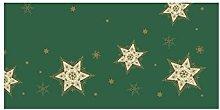 Duni Dunicel Tablecloths Glittering Stars Green