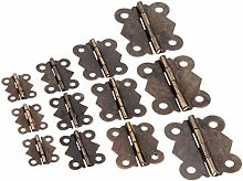 DUO ER 10Pcs Cabinet Furniture Hinges Jewelry