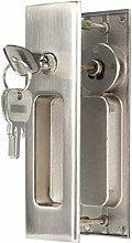 DUO ER Zinc Alloy Concealed Sliding Door Lock Set