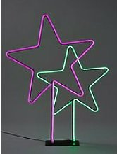 Duo Neon Star Room Light Christmas Decoration