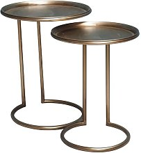 Duo of Eclipse Metal Side Tables