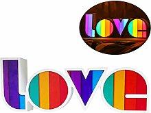 DUOCACL Light Up Letters, Love Alphabet LED Lights
