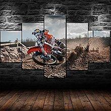 DUODUOQIAN Motocross Dirt Bike Racing 5 Panel