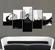 DUODUOQIAN Video Game Palm Girl 5 Panel Canvas