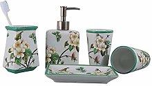DUOER home Ceramic Bathroom Accessories Five-piece