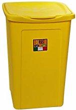 DUPLAST Laundry Basket, Daisy Design, Yellow, 50