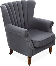 Dupuis Wingback Chair Marlow Home Co. Upholstery