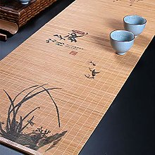 Durable Bamboo Tea Table Runner with Wooden Slat