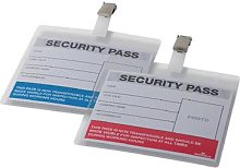 Durable Colour Coded Security Pass Red/Blue (25