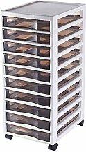 Durable Drawer Storage Cart 10-layer B4 Filing