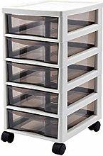 Durable Drawer Storage Cart 5-layer Drawer Plastic
