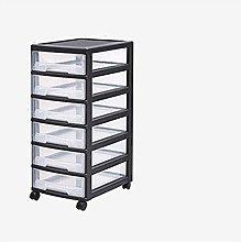 Durable Drawer Storage Cart Black Removable