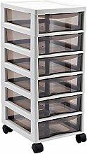Durable Drawer Storage Cart Office 6-layer Drawer