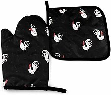 Durable Oven Mitts and Pot Holders Non-Slip Oven