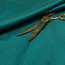 Durable Quality Blue Teal Plain Soft Velour Faux