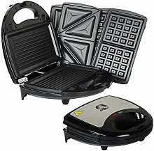 Durable tool 750W KITCHEN 3 IN 1 SANDWICH TOASTER
