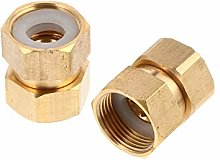 Durable Tool Supply 2 Pcs Copper Bolt Reducer