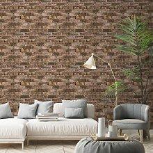 Durham Brick Wallpaper Red Grey 173401 - Grandeco
