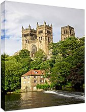 Durham Cathedral River Wear England Canvas Art