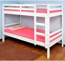 Durham White Wooden Bunk Bed Frame - 2ft6 Small