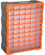 DURHAND 60 Drawer Storage Cabinets, 38Lx16Dx47.5H