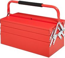 DURHAND Metal Tool Box 3 Tier 5 Tray Professional