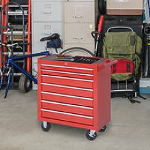 Durhand Roller Tool Cabinet Storage Box 7 Drawers