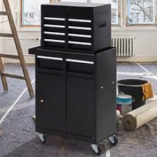 DURHAND Steel 4-Drawer Duo-Door Rolling Tool