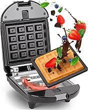 Duronic 2-in-1 Single Waffle Maker and Mini Grill