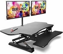 Duronic Sit-Stand Desk DM05D4 | Height Adjustable