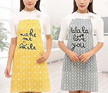 Dusenly 2 Pieces Fashion Women Aprons with Pocket
