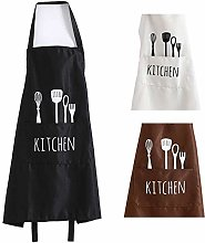 Dusenly Funny Unisex Kitchen Apron with Pockets