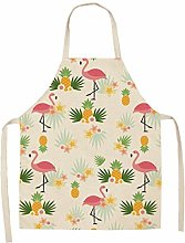 Dusenly Women's Apron Summer Hawaii Flamingo