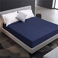 DuShow King Quilted Fitted Mattress Protector Navy