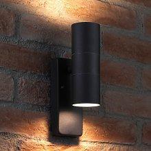 Dusk Till Dawn Sensor Black Up & Down Outdoor Wall