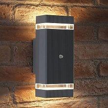 Dusk Till Dawn Sensor Double Up & Down Wall Light