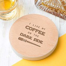 Dust and Things Engraved Grey Coaster - 'I