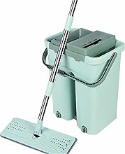 Dust Cleaning Flat Mop Dry Wash Bucket System Tool