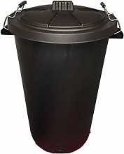 DUSTBIN LARGE BLACK GARDEN 90L REFUSAL HEAVY DUTY