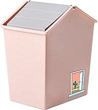 Dustbin Trash Bin with Swing-Top Lid Plastic