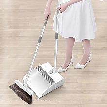 Dustpan and Broom Set,Stand Up Sweeping Brush