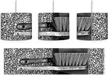 Dustpan and Brush 1-Light Drum Pendant East Urban