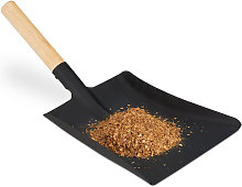 Dustpan with Wooden Handle, Fireplace Tool, Coal