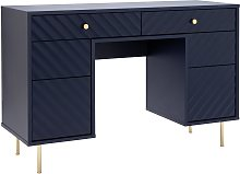 Dutch Glam 6 Drawer Dressing Table - Blue