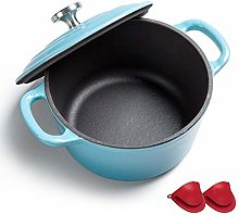 Dutch Oven with Dual Handle, Enameled Cast Iron