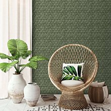 DUTCH WALLCOVERINGS Wallpaper Geometric Green -