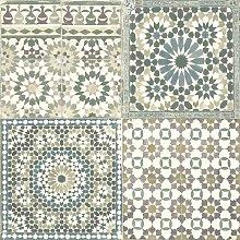 DUTCH WALLCOVERINGS Wallpaper Moroccan Tiles Brown